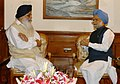 The Chief Minister of Punjab, Shri Prakash Singh Badal calling on the Prime Minister, Dr. Manmohan Singh, in New Delhi on August 13, 2007.jpg
