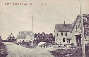 Brooksville, Maine - View of North Brooksville in 1908