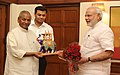 The Governor of Rajasthan, Shri Kalyan Singh calling on the Prime Minister, Shri Narendra Modi (15001684959).jpg