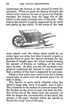 "Page from The Little Philosopher, Or The Science of Familiar Things vol. 1 (1863 edition), by Thomas Tate, a work considered to come close to the educational aims of Frederick Temple in developing the ""science of common things"" as a teaching method The Little Philosopher p. 48.png"