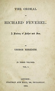 <i>The Ordeal of Richard Feverel</i> book by George Meredith