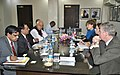 The Premier, British Columbia Government, Ms. Christy Clark meeting the Union Minister for New and Renewable Energy, Dr. Farooq Abdullah, in New Delhi on November 17, 2011.jpg