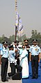 The President, Smt. Pratibha Devisingh Patil presenting the Standard to 108 Squadron, during the Presidential Standard Ceremony, at Gorakhpur, Uttar Pradesh on March 25, 2009.jpg