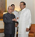 The President of the Democratic Socialist Republic of Sri Lanka, Mr. Maithripala Sirisena calling on the President, Shri Pranab Mukherjee, at Rashtrapati Bhavan, in New Delhi on November 06, 2016.jpg