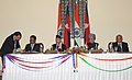 The Prime Minister, Dr. Manmohan Singh and the Prime Minister of Nepal, Dr. Baburam Bhattarai witnessing the signing of agreement between India and Nepal, in New Delhi on October 21, 2011 (1).jpg