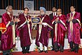 The Prime Minister, Dr. Manmohan Singh being presented a memento by the Governor of Goa, Shri S.C. Jamir at the convocation of Goa University on December 28, 2007.jpg