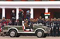 The Prime Minister, Dr. Manmohan Singh salutes while reviewing the Passing Out Parade at the Platinum Jubilee Course of Indian Military Academy, in Dehradun, on December 10, 2007.jpg