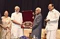 The Prime Minister, Shri Narendra Modi at the farewell function of the Vice President, Shri M. Hamid Ansari, at Parliament, in New Delhi.jpg