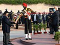 The Prime Minister, Shri Narendra Modi lighting the 'Swarnim Vijay Mashaal' at the National War Memorial, on the occasion of Vijay Diwas, in New Delhi on December 16, 2020.jpg