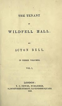 The Tenant of Wildfell Hall, edición de 1848.