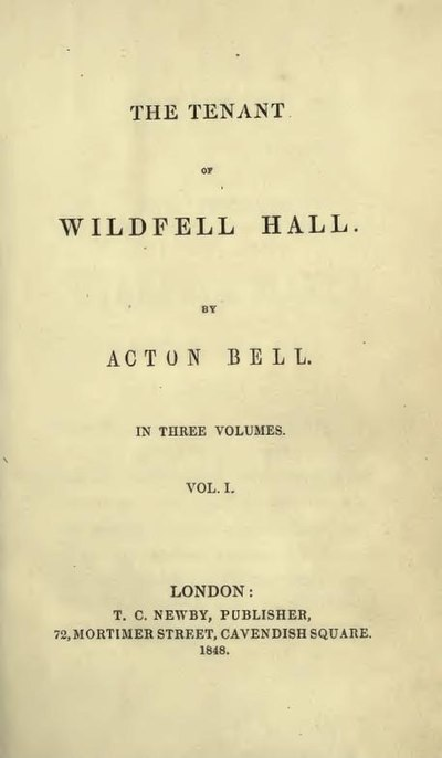 Picture of a book: The Tenant Of Wildfell Hall
