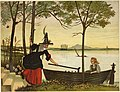 The Witch in the Cherry Garden drawing in Gerda's boat with her crutch.jpg