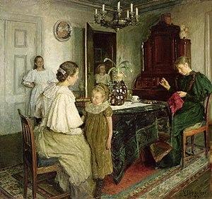 Viggo Johansen - Image: The family of the artist 1895 viggo johansen