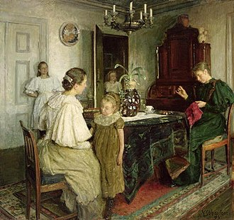 Viggo Johansen - Image: The family of the artist 1895 viggo johansen