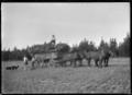 The last load of hay, at Mendip Hills sheep farm, Hurunui District. ATLIB 285642.png