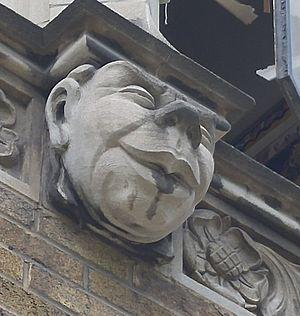 Northern Secondary School (Toronto) - An exterior grotesque