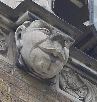 Northern Secondary School (Toronto) - An exterior grotesque