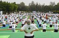 The participants in the mass performance of Common Yoga Protocol, on the occasion of the 4th International Day of Yoga -2018, at Nehru Park, in New Delhi on June 21, 2018 (1).JPG