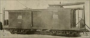 Brooklyn Heights Railroad - A Brooklyn Heights Railroad tower car from 1891.