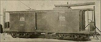 Brooklyn Heights Railroad - A Brooklyn Heights Railroad tower car from 1891.