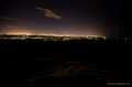 The view over Reykjavík and the Imagine Peace Tower from Ulfarsfell mountain at midnight in November 2014 01.png