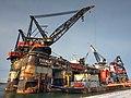 Thialf (ship, 1985) IMO 8757740 & Sleipnir (ship, 2019) IMO 9781425, Calandkanaal, Port of Rotterdam pic1.jpg