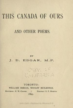 This Canada of ours and other poems.djvu