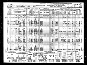 Tom Robbins - Image: Thomas Eugene Robbins in the 1940 US census living in Blowing Rock, North Carolina