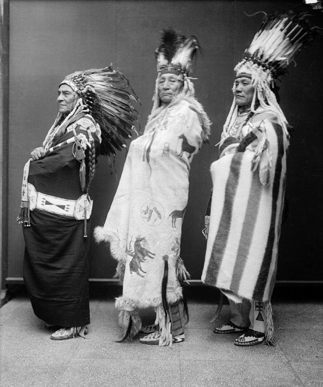 Three Blackfoot (Piegan) men