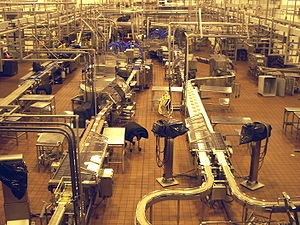 Tillamook, Oregon - Tillamook plant small cheese block processing lines