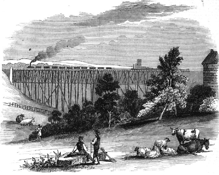 Timber Viaduct on the Darlington & Newcastle Railway
