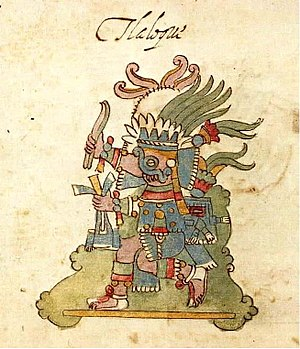Codex Ríos - A painting of Tlaloc, as shown on page 20R of Codex Ríos.