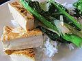 Tofu and bok choy