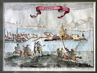 Tokaj - Tokaj Castle around 1664