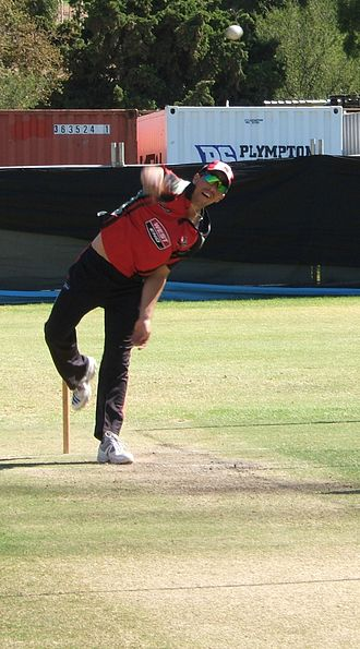 Tom Cooper (cricketer) - Tom Cooper bowling for South Australia in 2010.