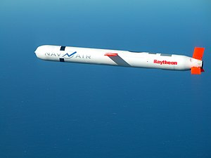 A Raytheon Tomahawk Block IV cruise missile du...