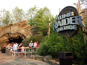 The Crypt (Kings Island) - The entrance and queue line when it was known as Tomb Raider: The Ride