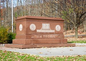 Jim Thorpe, Pennsylvania - Jim Thorpe's grave