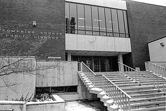 Tompkins County Public Library - Tompkins County Public Library, 312 N. Cayuga Street, 1969 to 2000.