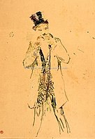 Toulouse-Lautrec - MONSIEUR DEBOUT ALLUMANT SON CIGARE, 1883, MTL.110.jpg