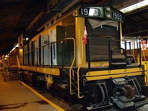 Winnipeg Railway Museum - Image: Train on display at Winnipeg Railway Museum