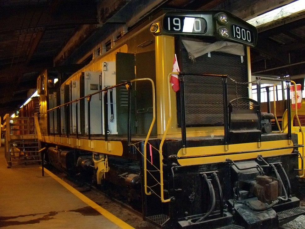 Train on display at Winnipeg Railway Museum