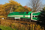 Trainspotting GO train -444 headed by MPI MP-40PH-3C -606 & banked by EMD F59PH -558 (8123581360).jpg