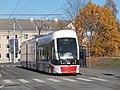 Tram 508 at Uelemiste jaam Tram Stop in Tallinn 20 October 2015.jpg