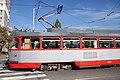 Tram in Sofia in front of Tram depot Banishora 016.jpg