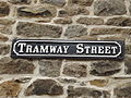 Tramway Street, Crich Tramway Village - National Tramway Museum - Crich - road sign (15187078207).jpg