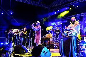 Transglobal Underground - Transglobal Underground with Fanfare Tirana 2015 at the Horizonte world music festival at Ehrenbreitstein Fortress