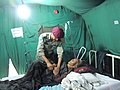 Treatment of senior citizen at 60 Para Field Hospital, at Sinamagal on 17 May 2015.jpg