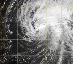 Hurricane Neki - Tropical Storm Neki near the French Frigate Shoals on October 23