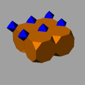 Vertex figure - truncated cubic honeycomb (partial).